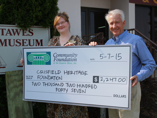 Crisfield Heritage Foundation Receives $2,247.00 from Community Foundation