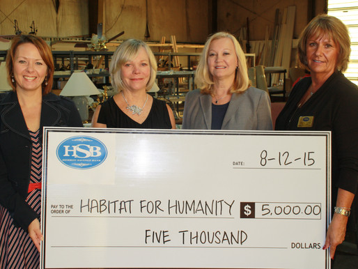 Community Foundation's Hebron Savings Bank Fund Supports Habitat for Humanity of Wicomico County