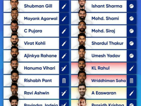 Team India announces test squad for WTC final and England tests.Hardik Pandya drops out!