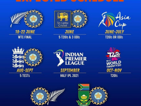Team India possible schedule after postponed of IPL 2021