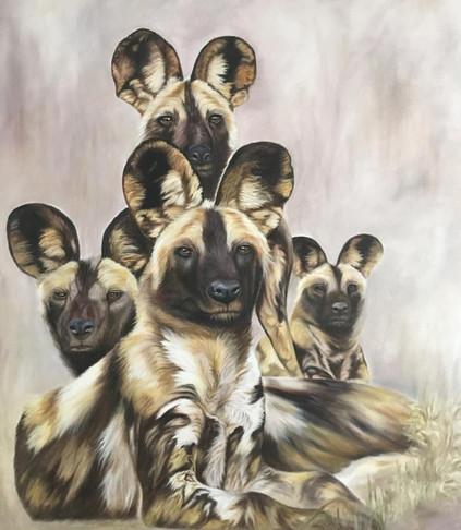 Wild Dogs Sitting