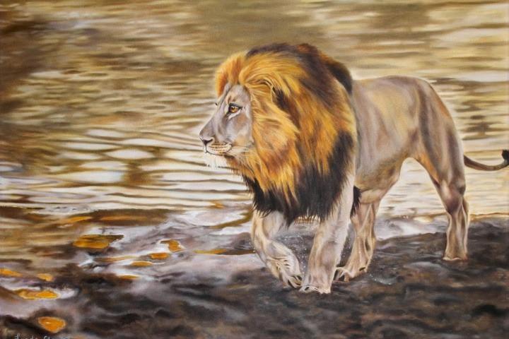 Menacing Lion