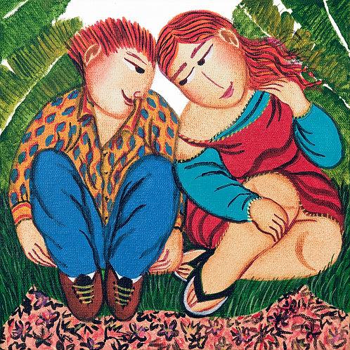 Amor Tropical - 15 cm x 15 cm