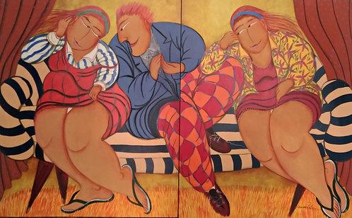 Conversas Casuais - díptico - 100 cm x 160 cm