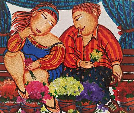 Amor de Primavera - 15 cm x 18 cm