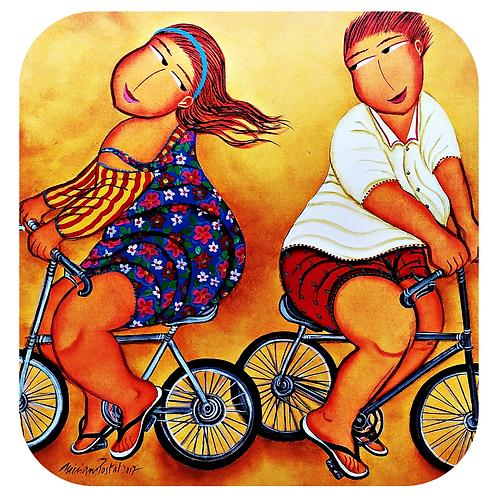 """Porta Copos """"Ciclistas"""""""