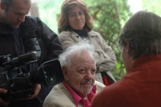 Abrahami and Netz on the set