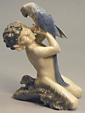 RC 0752 Faun with Parrot