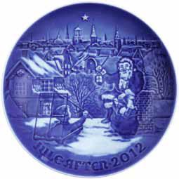 2012 B&G Christmas Plate - Inviting Santa Claus