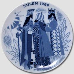 1969 Porsgrund Christmas Plate, Three Wise Men
