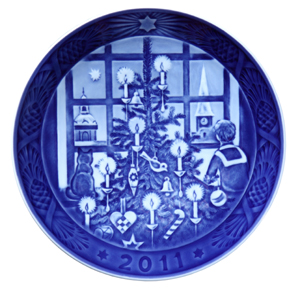 2011 RC Christmas Plate - Waiting for Santa Claus