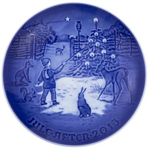 2013 B&G Christmas Plate - Light in the snow