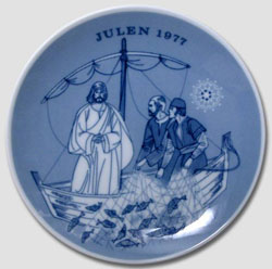 1977 Porsgrund Christmas Plate, Draught of Fishes