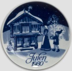1980 Porsgrund Christmas Plate, Prepare Christmas