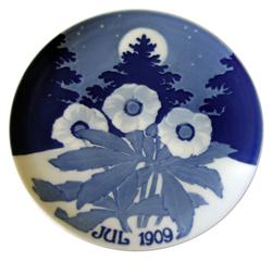 1909 Porsgrund Christmas Plate, The First Plate