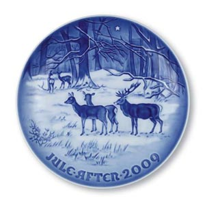 2009 B&G Christmas Plate - X-mas in the Woods