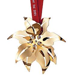 GJ 3410201 Christmas Ornament 2001, Poinsettia