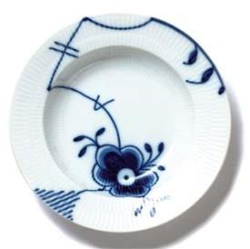 RC Blue Fluted MEGA Rim Soup Plate #1017369