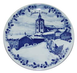 2006 Porsgrund Christmas Plate, Christmas Roeros
