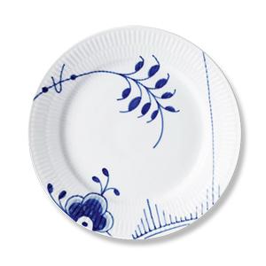 RC Blue Fluted MEGA Salad/Desert #2 Plate #1017364