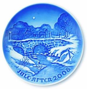 2008 B&G Christmas Plate - Along Haervejen