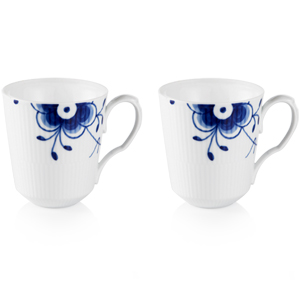 RC Blue Fluted MEGA Mug - Set of 2 #1016871