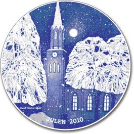 2010 Porsgrund Christmas Plate, Tonsberg Cathedral