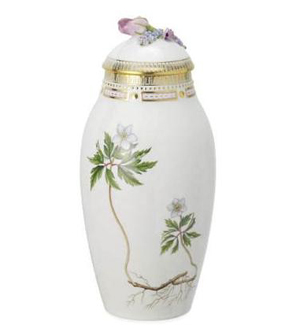 RC #214138 Vase with Lid, Spring 12 in.