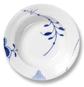 RC Blue Fluted MEGA Rim Soup Plate #2382604