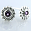 Thumbnail: Josefine | Flower Earrings, Silver