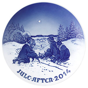 2014 B&G Christmas Plate, Sledge Ride in the Snow