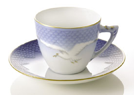 B&G Seagull #303080 Cup & Saucer 2 3/4 in