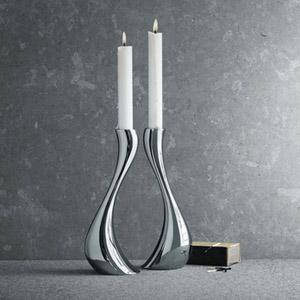 GJ 3586695 Stainless Steel Candleholders 2pk