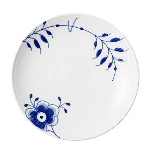 RC Blue Fluted MEGA Bread Coupe Plate #1016903