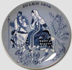 1970 Porsgrund Christmas Plate, Road to Betlehem