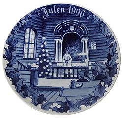 1996 Porsgrund Christmas Plate, Christmas Service