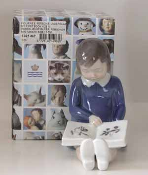 RC 1021467 Girl Reading - 'My First Book'