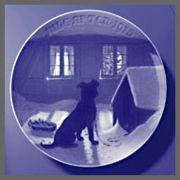 1915 B&G Dog Outside Window