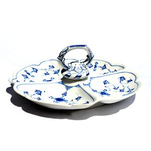 RC #1101213 Blue Fluted Cabarete Platter