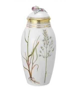 RC #2143738 Vase with Lid, Fall 12 in.
