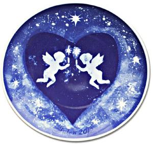 2012 Porsgrund Christmas Plate, Angels