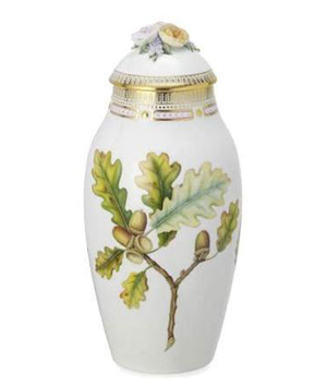 RC #2143741 Vase with Lid, Fall 13 1/2 in.