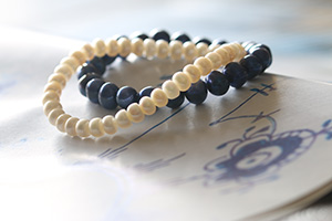 RC Inspired Collection, Blue Fluted Pearl, B&W
