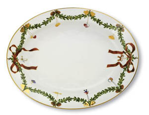 RC #1017443 Star Fluted Large Oval Platter