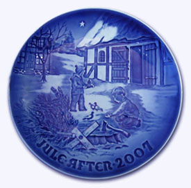 2007 B&G Christmas Plate - X-mas in the Country