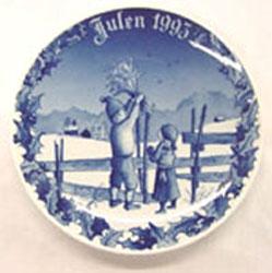 1993 Porsgrund Christmas Plate, Christmas Sheaf