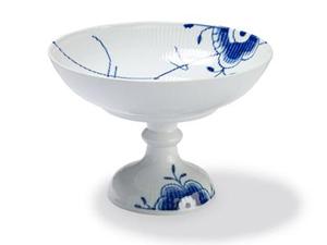 RC Blue Fluted MEGA Bowl on High Foot #1017363