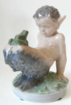 RC 1713 Faun with Frog on Knees