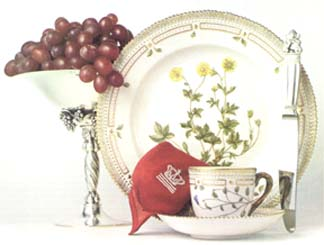 RC #1141001 Five Piece Place Setting, Reticulated