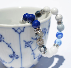 RC Inspired Collection, Blue Fluted Bracelet